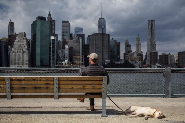 Blick auf die Skyline von Manhattan