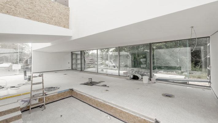 Eindrücke des Wohnraumes im Rohbau, Foto: Aryan Mirfendereski