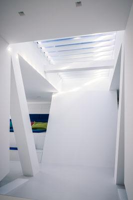 Der Übergang des Obergeschosses in das Atelier und das Kino, Foto: Daniel Hartz
