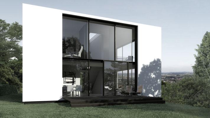 Dei private Terrasse der Eigentümer nach Westen