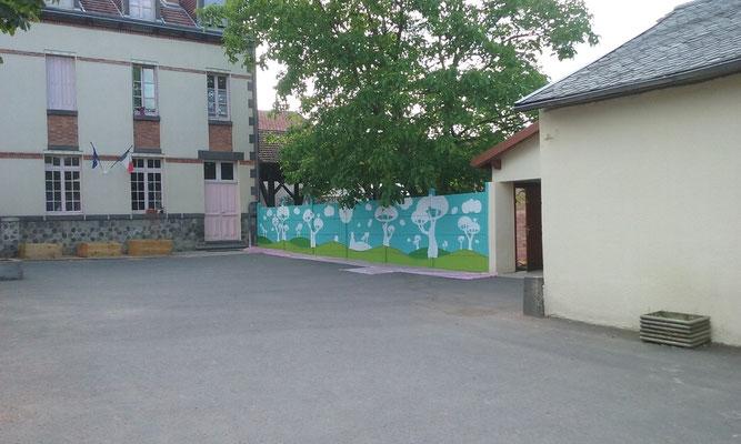 RESQUE MURALE ETAPE 1 nettoyage du mur et peindre le soubassement