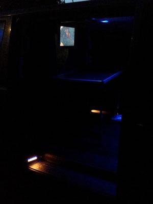 Car-Entertainment-System mit 2 unanbhängigen und koppelbaren DVD Playern mit Ambilight