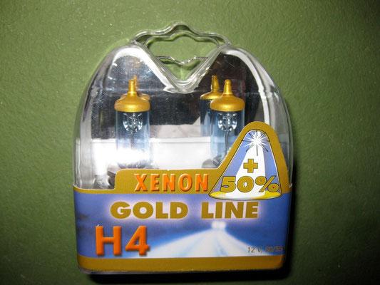 Halogenscheinwerferlampen H1 / H4 und H7 bis zu 50% mehr Licht