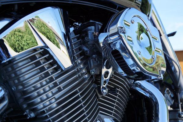 VTX Umbau mit Luftfilter, Motorabdeckungen
