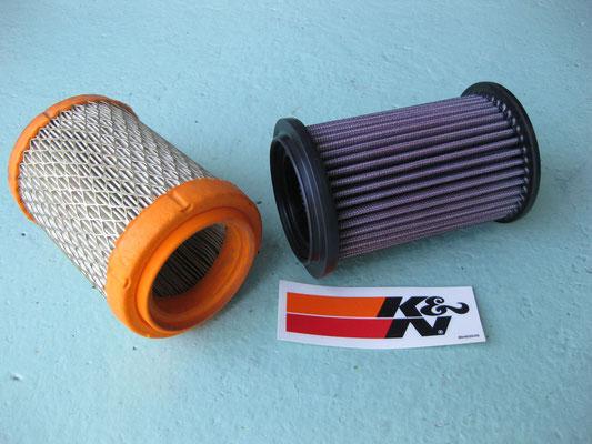 Austausch der Originalpapierfilter gegen auswaschbare K&N Filter