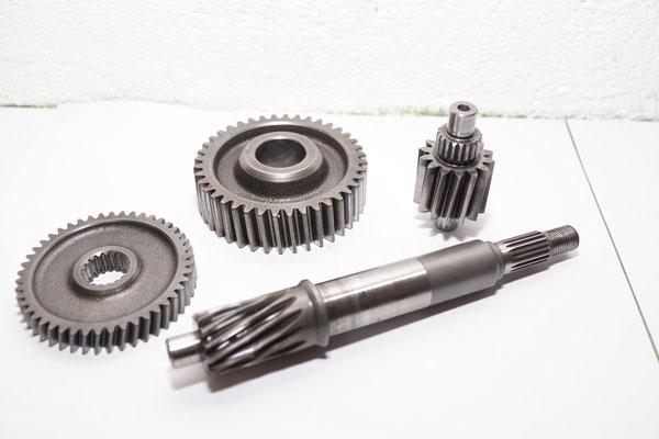 Getriebe Malossi und Polini Honda 125 4-t, Primär und Sekundär