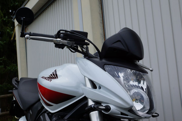 Rückspiegel, Sturzpad und Blinkerumbau HONDA CB600 Hornet