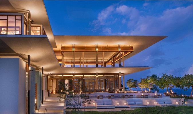 Haupthaus des Resorts
