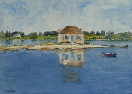 St Cado (Morbihan) - 38x46 cm  -  180€
