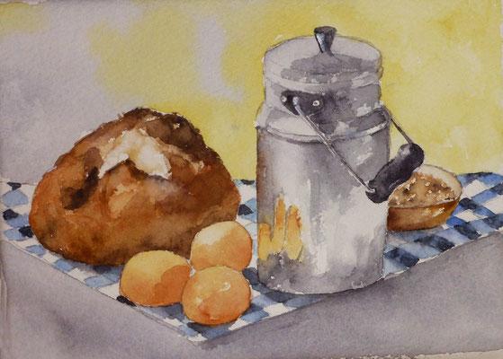 Bidon de lait - 13x 18 cm  -  25€