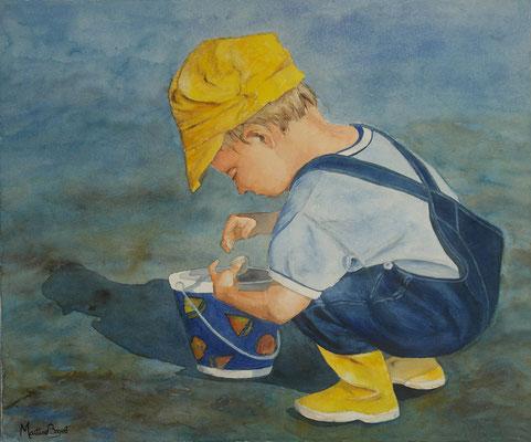 Enfant au coquillage - 54x65cm  - 250€