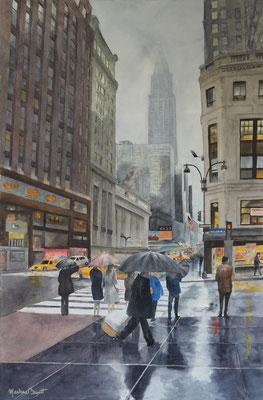 Jour de pluie - 54x81 cm  -  500€