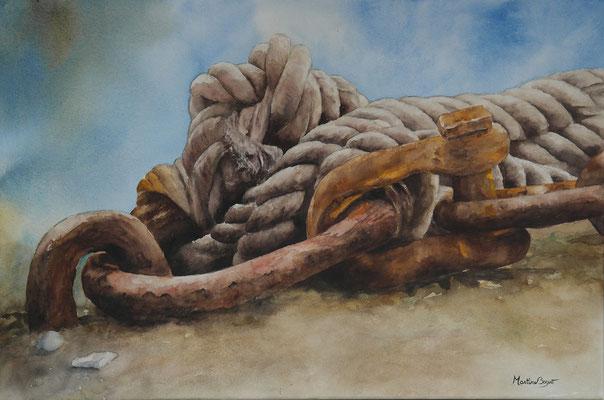 Noeud et ferraille - 54x81 cm  -  400€