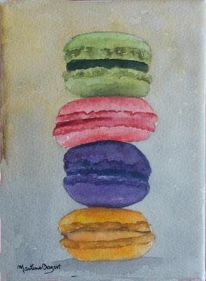 Macaron myrtille - 13x 18 cm  -  25€