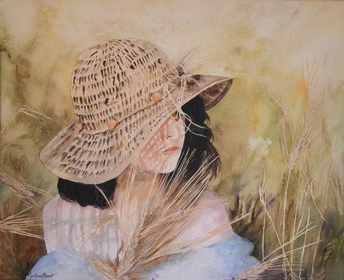 Chapeau de paille - 50x61 cm  -  300€