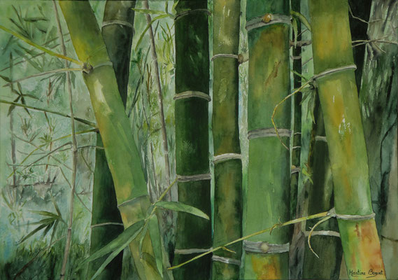 Bambous - 50x70 cm  -  300€