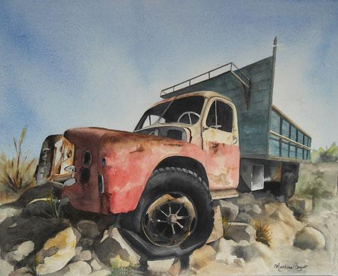 Camion US - 50x61 cm  -  300€