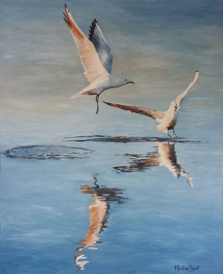 Vol d'oiseaux - 81x100 cm  -  500€