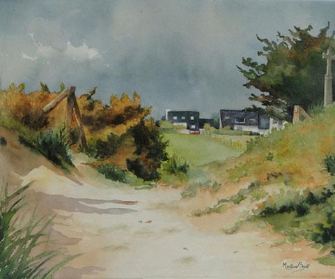 Chemin breton - 48x56 cm  -  150€