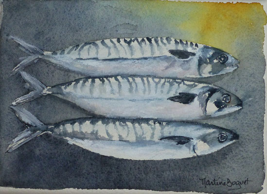 Sardines - 13x 18 cm  -  25€