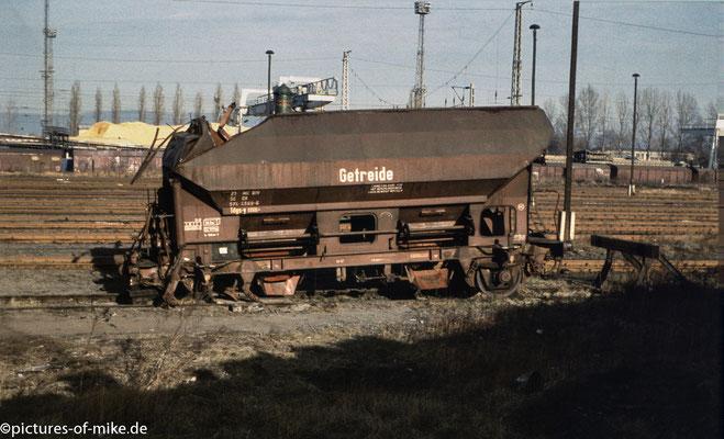 verunfallter Wagon, abgestellt auf dem WAS-Gleis, undatiert