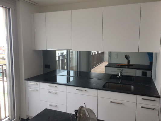 Küchenrückwand, Spiegel - hell