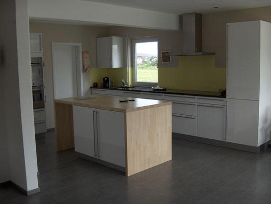 Küchenrückwand hellgelb - matt
