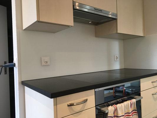 Küchenrückwand weiss - matt