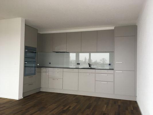 Küchenrückwand weiss - glänzend