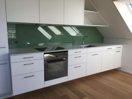 Küchenrückwand tannengrün - glänzend
