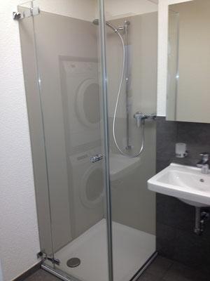Duschtrennwand mit Glasrückwand