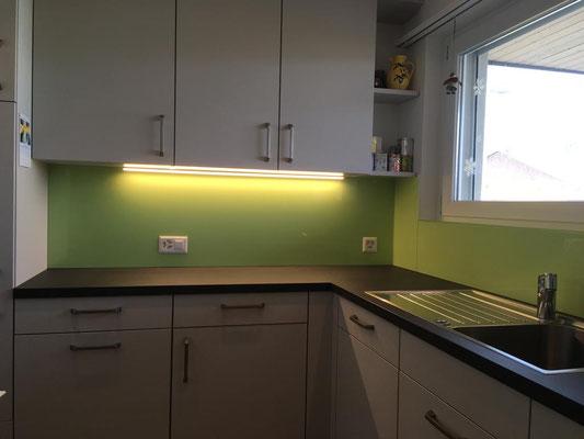 Küchenrückwand - grün - glänzend