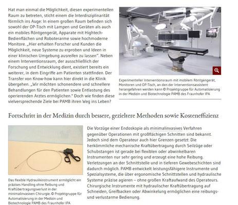 Operationssaal der Zukunft - minimalinvasive Techniken - Artikel BIOPRO (Simone Giesler, freie Autorin und Redakteurin)