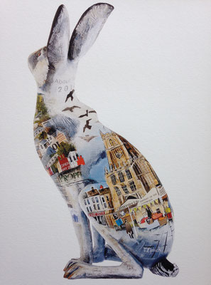 Jackanory Cirencester Hare (back)SOLD  Print Available
