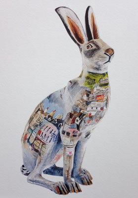 Jackanory Cirencester Hare SOLD Print Available
