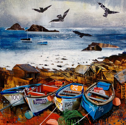 CO13 Priest Cove    original SOLD,       Print Available  £65