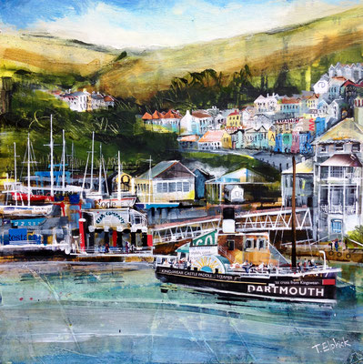 SC16 Kingswear and Paddle Steamer sold Print Available