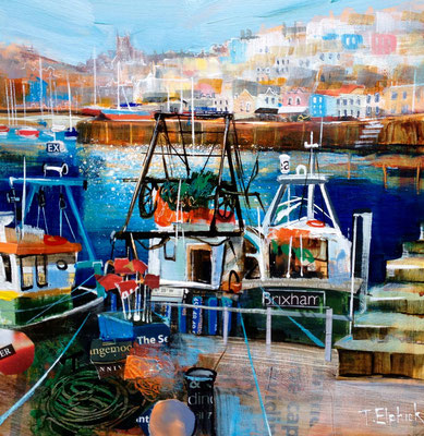 SC04 Brixham Fishing Boats SOLD  Print Available