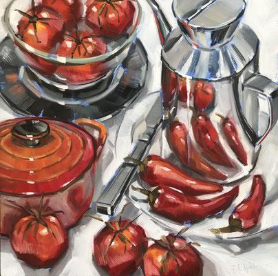 SLO40 Red Hot     Original sold      print £65