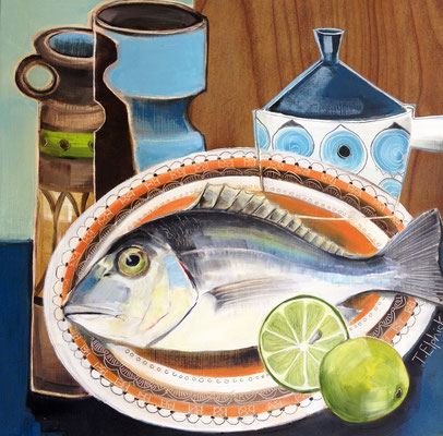 SLM03 Bream & Inca Dish      original SOLD        Print £65