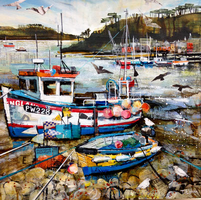CO17 Helford Fishing Boat      original sold        Print Available   £65