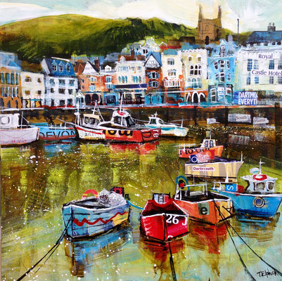 Boat float, Dartmouth, Gallery Commission Print Available