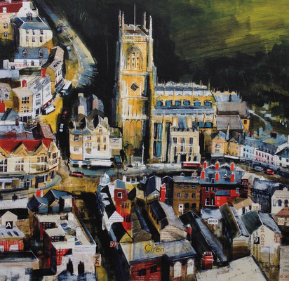 Cirencester Church from the Air SOLD  Print Available