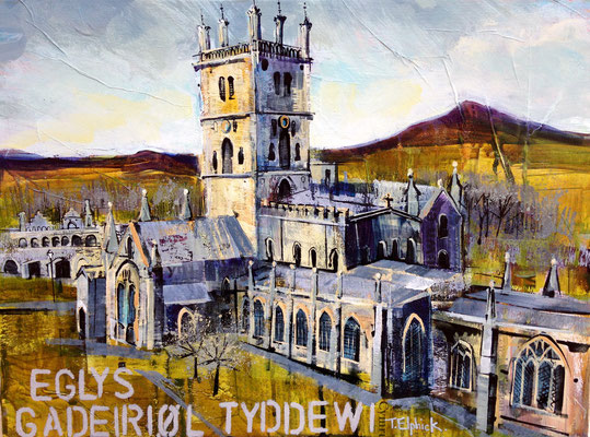 "St. David's Cathedral, 12""x16""+framesale £195, Print Available"