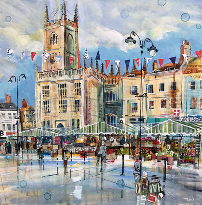 C18 Cirencester Church & Market summer  Sold print available