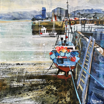 CO24 Padstow safe harbour        original sold       print available    £65