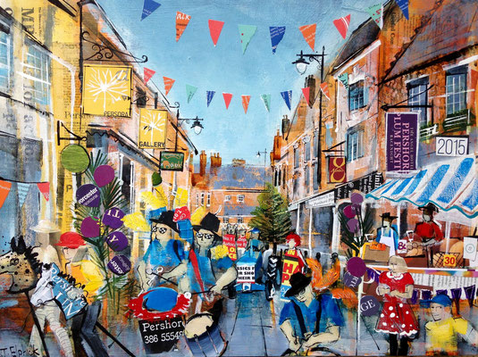 Pershore Plum Festival (Commission)SOLD  Print Available