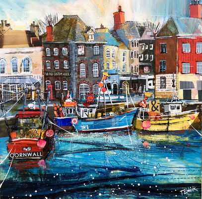 CO20 Padstow, old Custom House    original sold     print available  £65