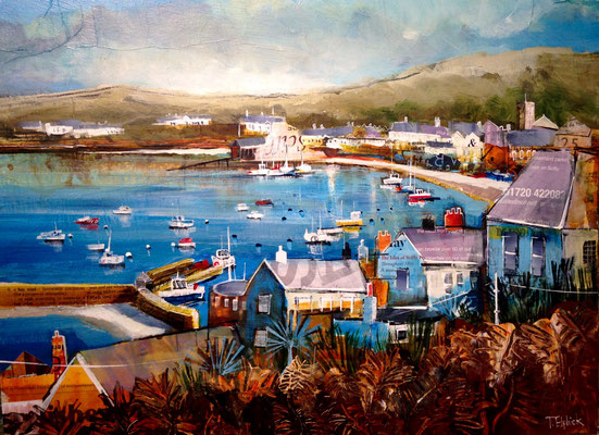 St. Marys Harbour from Star Castle gallery commission print available