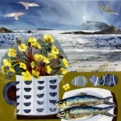 SLM44 Buttercups & Sardines on Tresco   Original sold       print £65